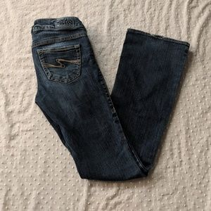 Silver Aiko boot cut jeans size 24